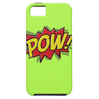 Superhero Pow Burst iPhone Case-Shocking Green iPhone 5 Cases
