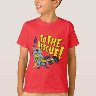 Superhero Raccoon To The Rescue T-Shirt