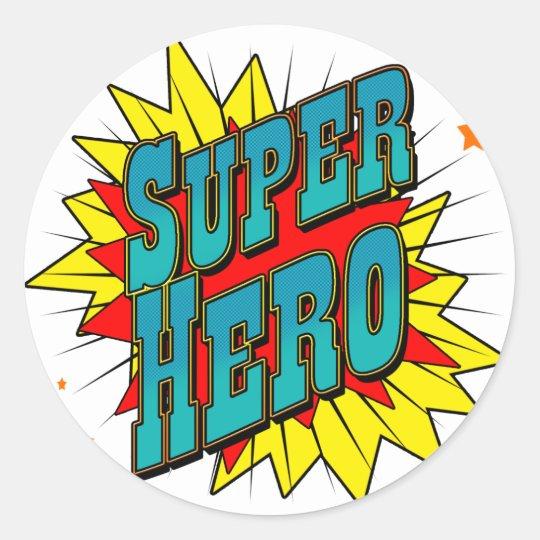 SuperHero Round Sticker