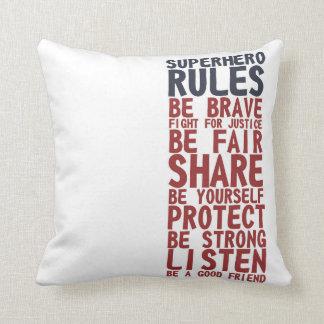 Superhero Rules Text Design Phrase Pillow