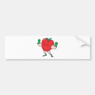 superhero strawberry cartoon character bumper sticker
