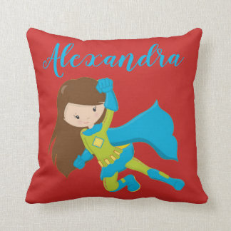 Superhero SuperGirl Flying Hero POP BANG Girl Cushion