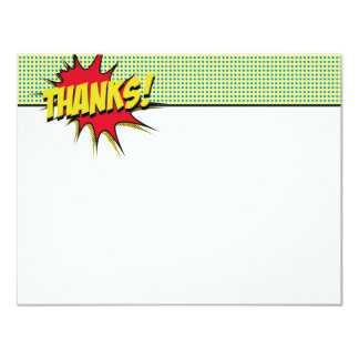 Superhero Thank You Stationery Card