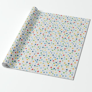 Superhero to paper, stars wrapping paper