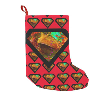 Superhero Vegas Frog Pattern Small Christmas Stocking