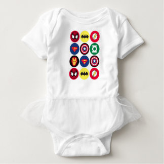 Superheroes Baby Bodysuit