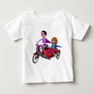 Superheroes in a Moped with a Sidecar Baby T-Shirt