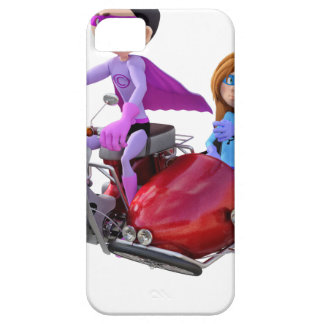 Superheroes in a Moped with a Sidecar Case For The iPhone 5