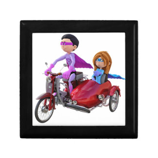 Superheroes in a Moped with a Sidecar Gift Box