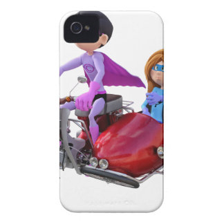 Superheroes in a Moped with a Sidecar iPhone 4 Covers