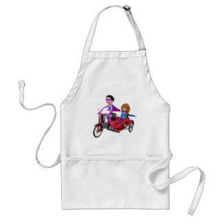 Superheroes in a Moped with a Sidecar Standard Apron
