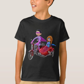 Superheroes in a Moped with a Sidecar T-Shirt