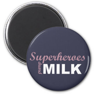 Superheroes pump milk white and pink magnet
