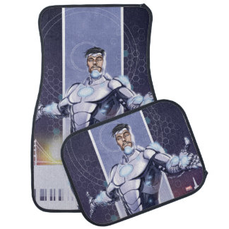 Superior Iron Man And City Floor Mat