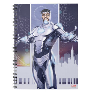 Superior Iron Man And City Spiral Notebook