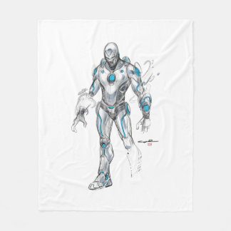 Superior Iron Man Sketch Fleece Blanket