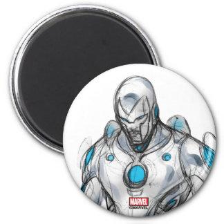 Superior Iron Man Sketch Magnet