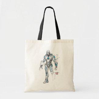 Superior Iron Man Sketch Tote Bag
