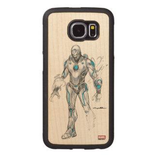 Superior Iron Man Sketch Wood Phone Case