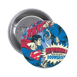 Superman 13 6 cm round badge