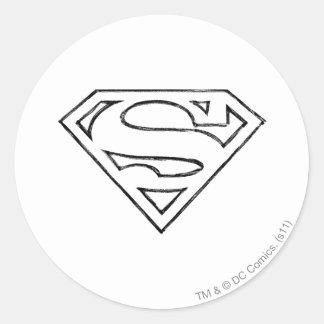 Superman 24 round sticker