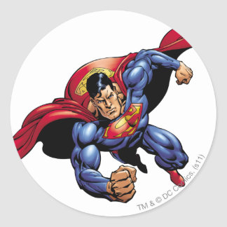 Superman 31 round sticker