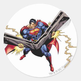 Superman 42 round sticker