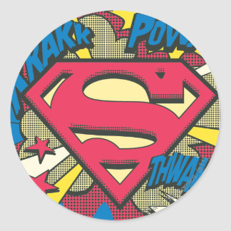 Superman 66 round sticker