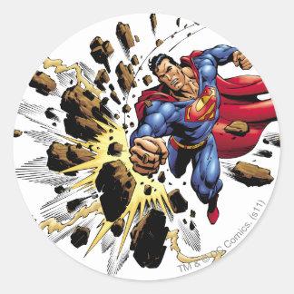 Superman 68 round sticker