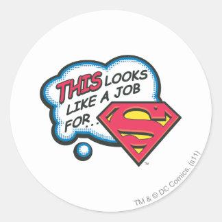 Superman 74 round sticker