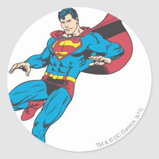 Superman 85 round sticker