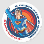 Superman A Never-ending Mission Classic Round Sticker