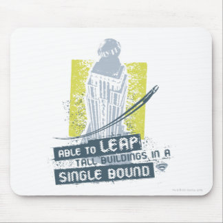 Superman Able to Leap Tall Buildings Mouse Pad