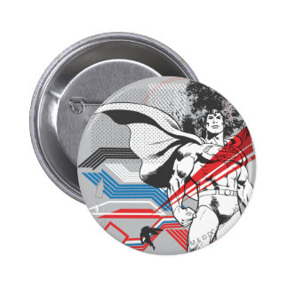 Superman - Absurd Collage Poster 6 Cm Round Badge
