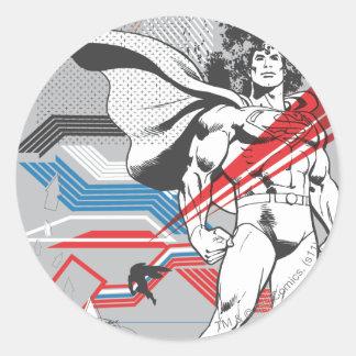 Superman - Absurd Collage Poster Sticker