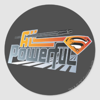Superman All Powerful Round Sticker