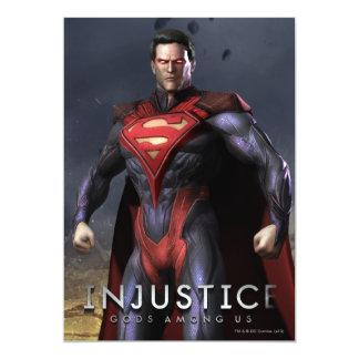 Superman Alternate 13 Cm X 18 Cm Invitation Card