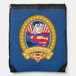 Superman American Hero Drawstring Bag