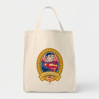 Superman American Hero Grocery Tote Bag