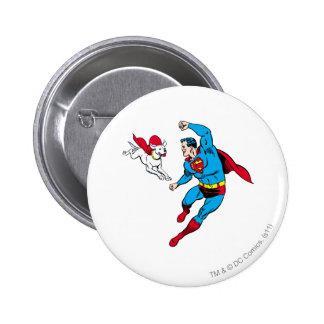 Superman and Krypto 2 6 Cm Round Badge