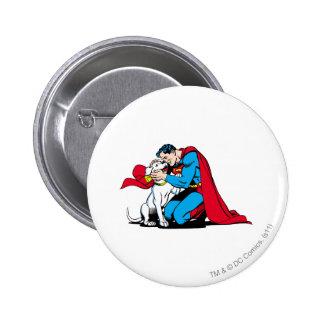 Superman and Krypto 6 Cm Round Badge
