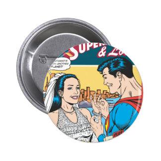 Superman and Lois Comic 6 Cm Round Badge