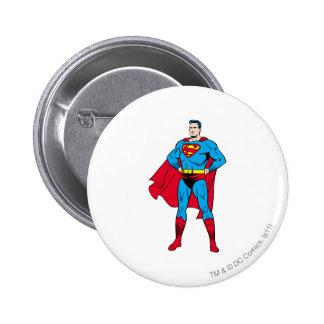 Superman Arms Folded 6 Cm Round Badge