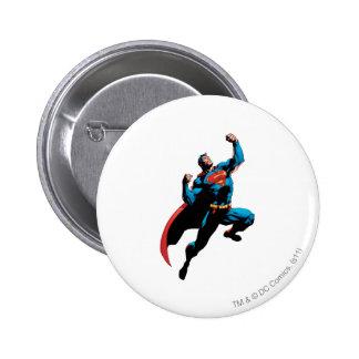 Superman Arms Raised 6 Cm Round Badge