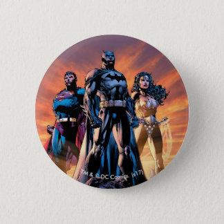 Superman, Batman, & Wonder Woman Trinity 6 Cm Round Badge