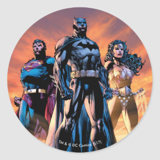 Superman, Batman, & Wonder Woman Trinity Round Sticker