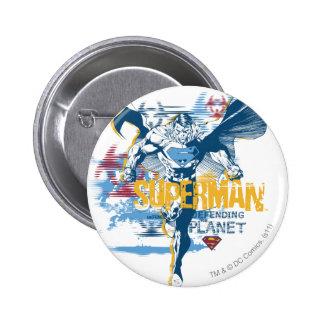 Superman Bio Design 6 Cm Round Badge