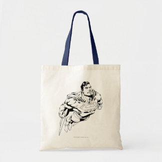 Superman Black and White 1 Budget Tote Bag