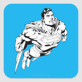 Superman Black and White 1 Square Stickers