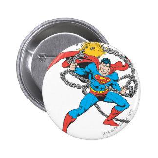 Superman Breaks Chains 3 6 Cm Round Badge